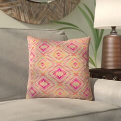 Demina Feathered Arrows Indoor/Outdoor Throw Pillow Size: 20