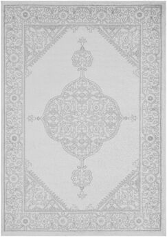 Corinna Gray/Cream Area Rug Rug Size: Rectangle 2' x 3'