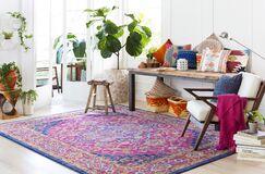 Koval Pink/Orange Area Rug Rug Size: Oval 6'7