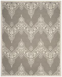 Nioka Hand-Tufted Gray/Ivory Area Rug Rug Size: Rectangle 8' x 10'