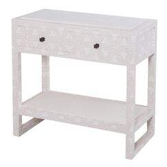 Tina Fabric Wrapped 2 Drawer Nightstand