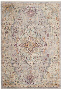 Soren Lilac/Light Gray Area Rug Rug Size: Square 4'