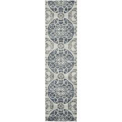 Kouerga Hand-Tufted Silver/Gray Area Rug Rug Size: Runner 2'3
