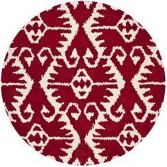 Kouerga Red Area Rug Rug Size: Rectangle 3' x 5'
