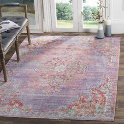 Bangou Lavender/Fuchsia Area Rug Rug Size: Rectangle 3' x 5'