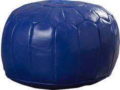 Carolos Pouf Upholstery: Navy Blue