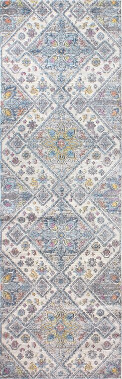 Goldie Ivory/Gray Area Rug Rug Size: Runner 2'6