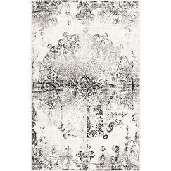 Brees Medallion Ivory/Gray Area Rug Rug Size: Rectangle 5'2