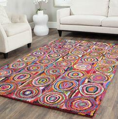Sergio Circle Area Rug Rug Size: Rectangle 4' x 6'