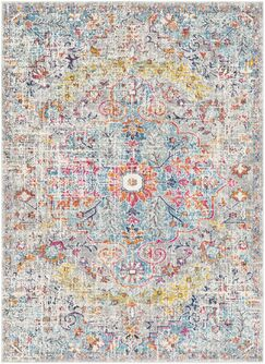 Hillsby Gray/Light Blue Area Rug Rug Size: Rectangle 5'3