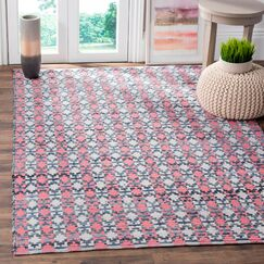 Saleem Hand-Woven Coral Area Rug Rug Size: Rectangle 4' x 6'