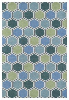 Aaron Blue Area Rug Rug Size: Rectangle 5' x 7'
