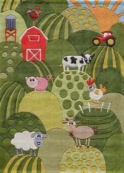 Johnnie Hand-Tufted Grass Green Area Rug Rug Size: Rectangle 8' x 10'