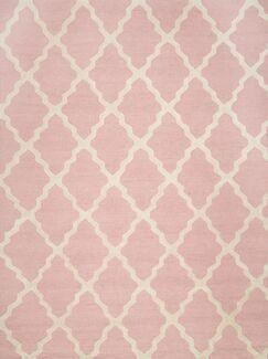 Sherryl Hand-Woven Wool Baby Pink Area Rug Rug Size: Rectangle 7'6