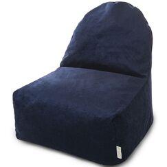 Classic Bean Bag Lounger Upholstery: Navy