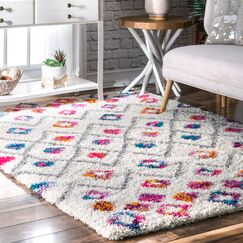Gwendolyn Pink Area Rug Rug Size: Square 5' 3