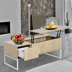 Modern Lift Top Coffee Table with Storage Color: Golden Brown