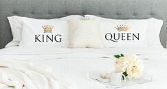 King and Queen Pillowcases (Set of 2)
