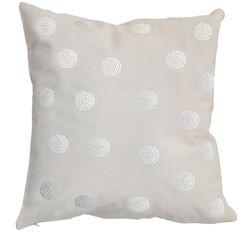 Rhinestone Bobble Throw Pillow Color: Ivory
