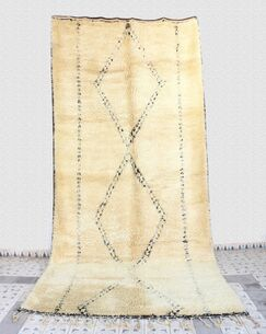 Beni Ourain Moroccan Berber Hand-Woven Wool Ivory Area Rug