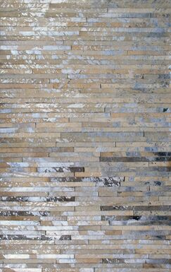 Patchwork Stripe Faded Brown Area Rug Rug Size: Rectangle 3' x 5'