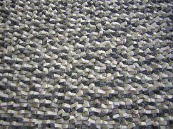 Cobblestone Coal Black Area Rug Rug Size: Round 5'