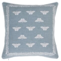 Summertime Meadow Embroidered Throw Pillow