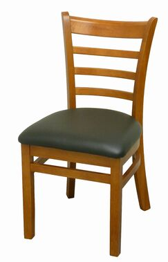 Side Chair Upholstery Color: Black, Frame Color: Cherry