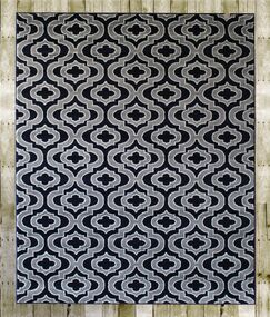 Courtdale Navy Blue/Gray Area Rug Rug Size: 4'10