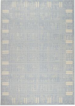Light Blue Area Rug Rug Size: 7'4