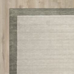 Southbury Wool Light Gray Area Rug Rug Size: Square 6'