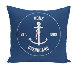Hancock Gone Overboard Word Throw Pillow Size: 20