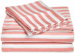 Ariel 600 Thread Count Striped Sheet Set Color: Pink, Size: Queen