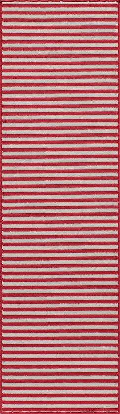 Halliday Red Indoor/Outdoor Area Rug Rug Size: Rectangle 3'11