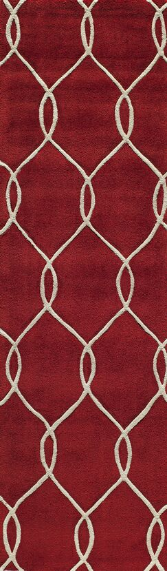 Bassett Hand-Tufted Red Area Rug Rug Size: Runner 2'3