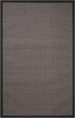 Stephenson Black Pearl Indoor/Outdoor Area Rug Rug Size: Rectangle 8' x 10'