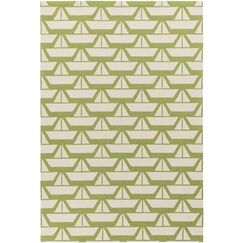 Huntington Hand Hooked Grass Green Area Rug Rug Size: Rectangle 7'6