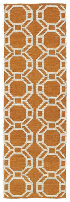 Fowler Orange/Cream Indoor/Outdoor Area Rug Rug Size: Runner 2' x 6'