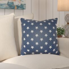 Starry Night Throw Pillow Color: Blue & White, Size: 18