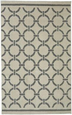 Stonehurst Stitched Circles Cream/Gray Area Rug Rug Size: Rectangle 5' x 7'