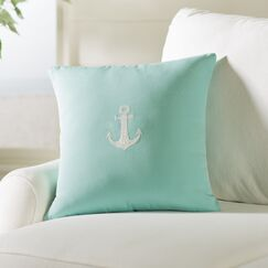 Hereford Outdoor Throw Pillow Color: Glacier Blue, Size: 18