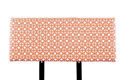 Alice Gigi Upholstered Panel Headboard Size: Queen, Upholstery: Black/White