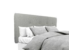 Olivia Upholstered Panel Headboard Size: Twin, Upholstery: Smoke