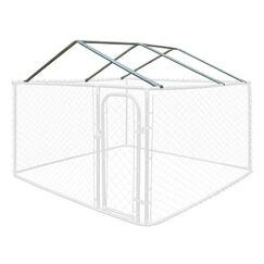 Keene Full Steel Chain Link Dividable Galvanized Dog Kennel Roof Frame