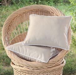 Madeleine Printed Outdoor Throw Pillow Color: Khaki