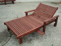 Thibeault Wood Framed Wide Chaise Lounge Finish: Super Deck