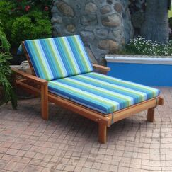Henry Rustic Beach Wide Solid Wood Chaise Lounge Finish: Super Deck