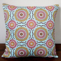 Doily Modern Geometric Circle Indoor Sateen Cotton Throw Pillow