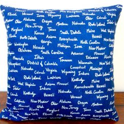 All the United States Canvas in Modern Pillow Cover