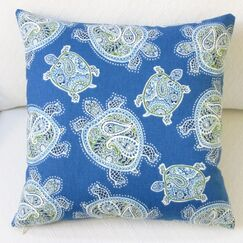 Tranquil Sea Turtles Cotton Throw Pillow